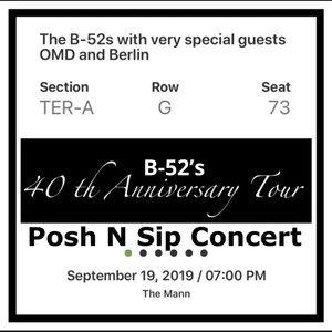 Posh N Sip Accessories - Posh N Sip CONCERT 9/19/19 Philadelphia PA